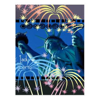 Lady Liberty - STATUE OF LIBERTY Postcard