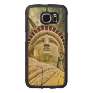 Lady Liberty, Statue of Liberty Wood Phone Case