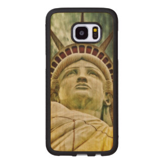 Lady Liberty, Statue of Liberty Wood Samsung Galaxy S7 Edge Case