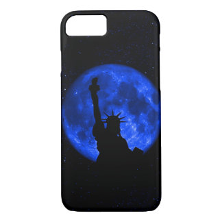 Lady Liberty Under the Blue Moon iPhone 7 Case