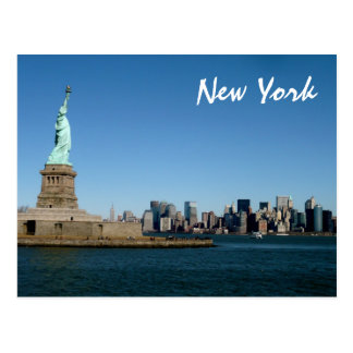 Lady Liberty Watches Over NYC (colour) Post Cards