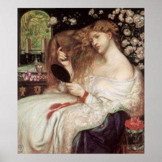 Lady Lilith Dante Gabriel Rossetti Victorian Art Posters