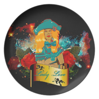 Lady Love Party Plate