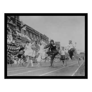 Lady Low Hurdle Race in Washington DC 1922 Poster