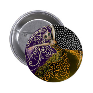 Lady Luck 2 Inch Round Button
