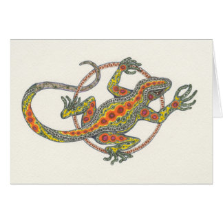 """""""Lady Luck"""" Lizard Notecard"""