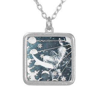 LADY LUNA SILVER PLATED NECKLACE