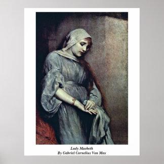 Lady Macbeth By Gabriel Cornelius Von Max Poster