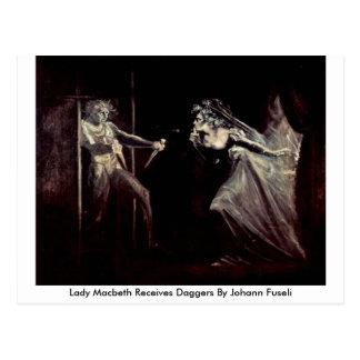 Lady Macbeth Receives Daggers By Johann Fuseli Postcard