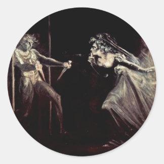 Lady Macbeth Receives The Daggers, Lady Macbeth Ta Classic Round Sticker