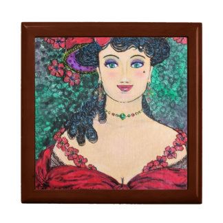"Lady Madeline Large 7.125"" Square w/6""Gift Box"