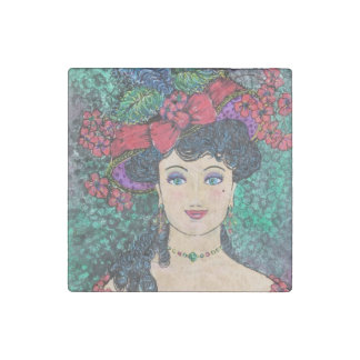 """""""Lady Madeline"""" Marble Stone Magnets, Individual Stone Magnets"""