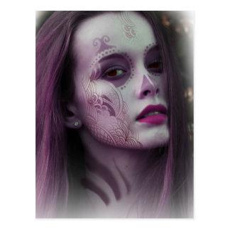 Lady Model Make Up Postcard