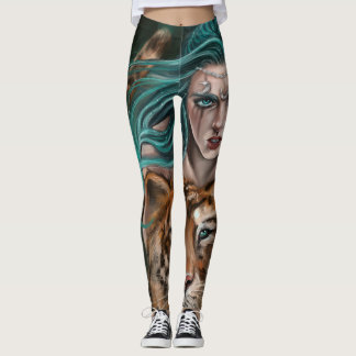 """'Lady moon and Her Tiger"""" leggings"""
