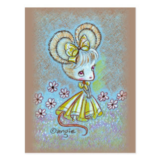 Lady Mouse Postcard