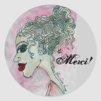 Lady No.3_Merci ! Sticker