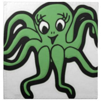 lady octopus lashes napkin