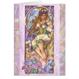 Lady of February Art Nouveau Birthstone Series Card