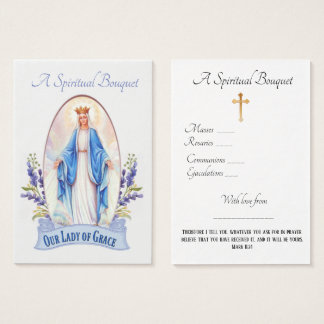 Lady of Grace Spiritual Bouquet Prayer Holy Card