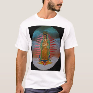 Lady of Guadalupe (blue tint) with black border T-Shirt