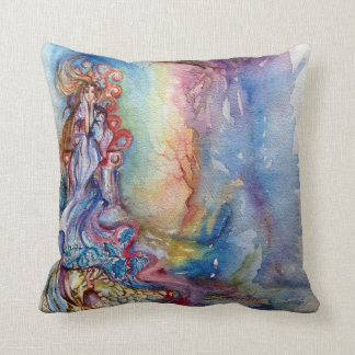 LADY OF LAKE , Magic and Mystery Throw Pillows