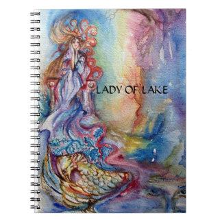 LADY OF LAKE SPIRAL NOTEBOOKS