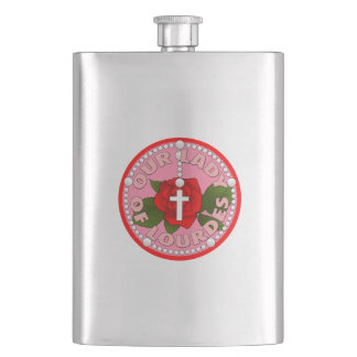 Lady of Lourdes Hip Flask