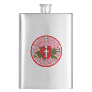 Lady of Perpetual Health Hip Flask