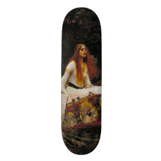 Lady of Shallot by John William Waterhouse Custom Skate Board