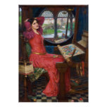Lady of Shallot by John William Waterhouse Poster