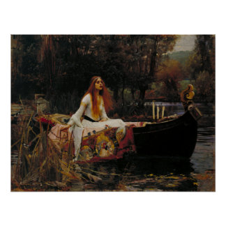 Lady of Shallot by Waterhouse Poster