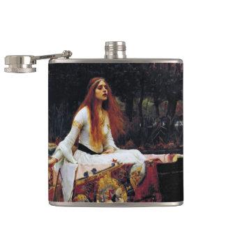 Lady Of Shallot on Boat Waterhouse Art Flask