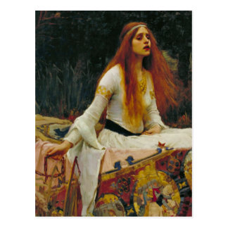 Lady of Shalott with Flowing Hair Postcard