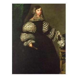 Lady of the Medinaceli family, c.1683 Postcard