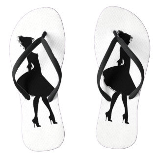 Lady of the shoes flip flops
