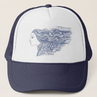 Lady of the Waves and Stars Trucker Hat
