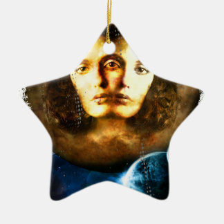 Lady Of Universe Star Fantasy Cosmos Ceramic Star Ornament