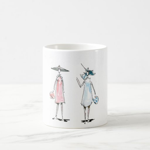 Lady off to Lunch Mug