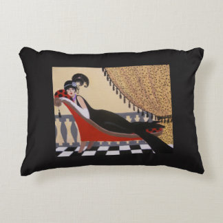 LADY ON A LOUNGE, PILLOW