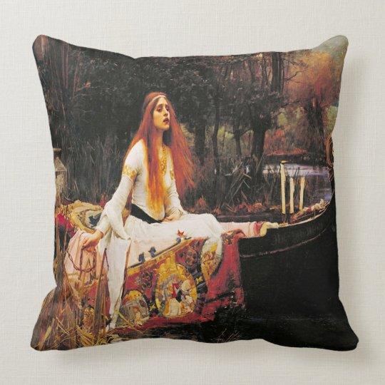 Lady on the Lake Pillow Cushion
