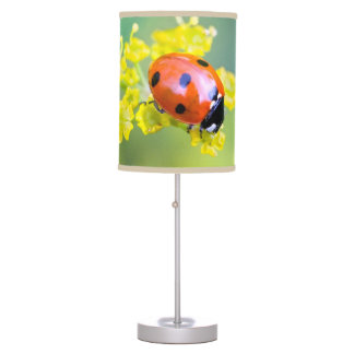 lady on top table lamp