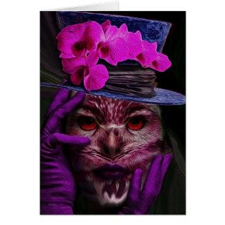 Lady Owl Card