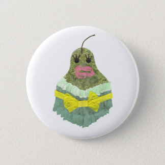 Lady Pear Badge 2 Inch Round Button
