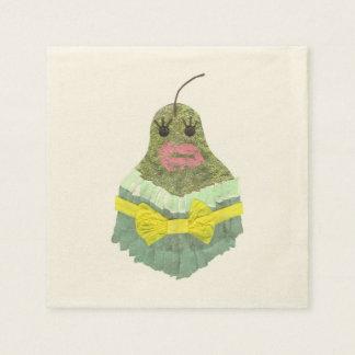 Lady Pear Ecru Napkins Paper Napkin