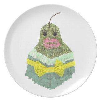 Lady Pear Melamine Plate