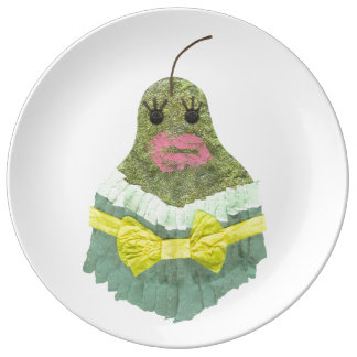 Lady Pear Porcelain Plate
