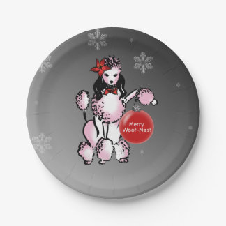 Lady Poodle Paper Plate