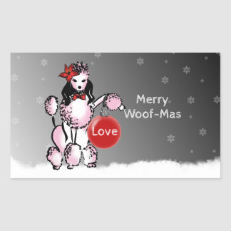 Lady Poodle shows your Christmas wishes! Sticker