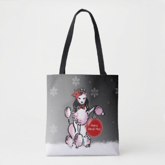 Lady Poodle shows your Christmas wishes! Tote Bag
