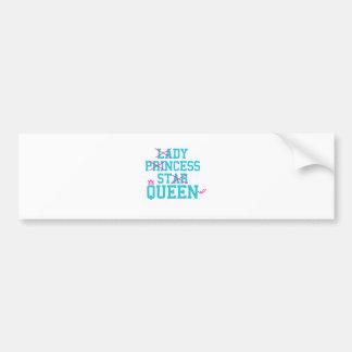 Lady princess star queen bumper sticker
